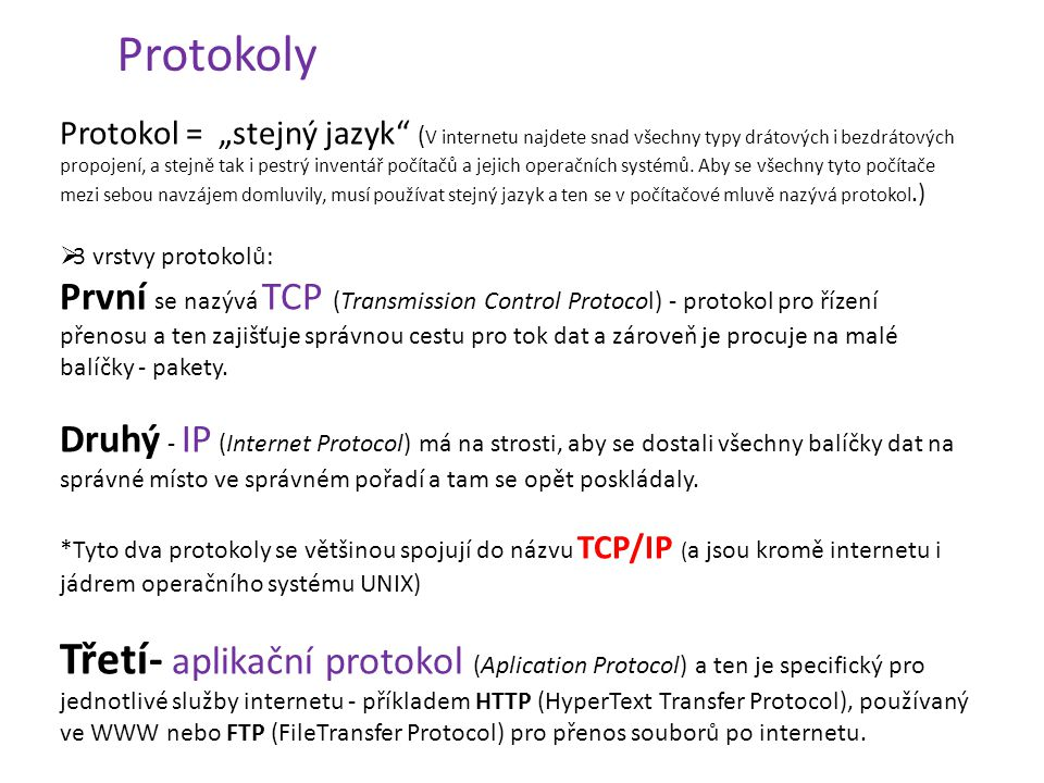 Online seznamovací protokoly