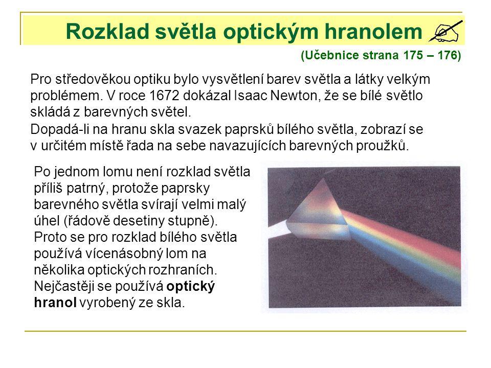 6da1c9eba Rozklad světla optickým hranolem - ppt stáhnout