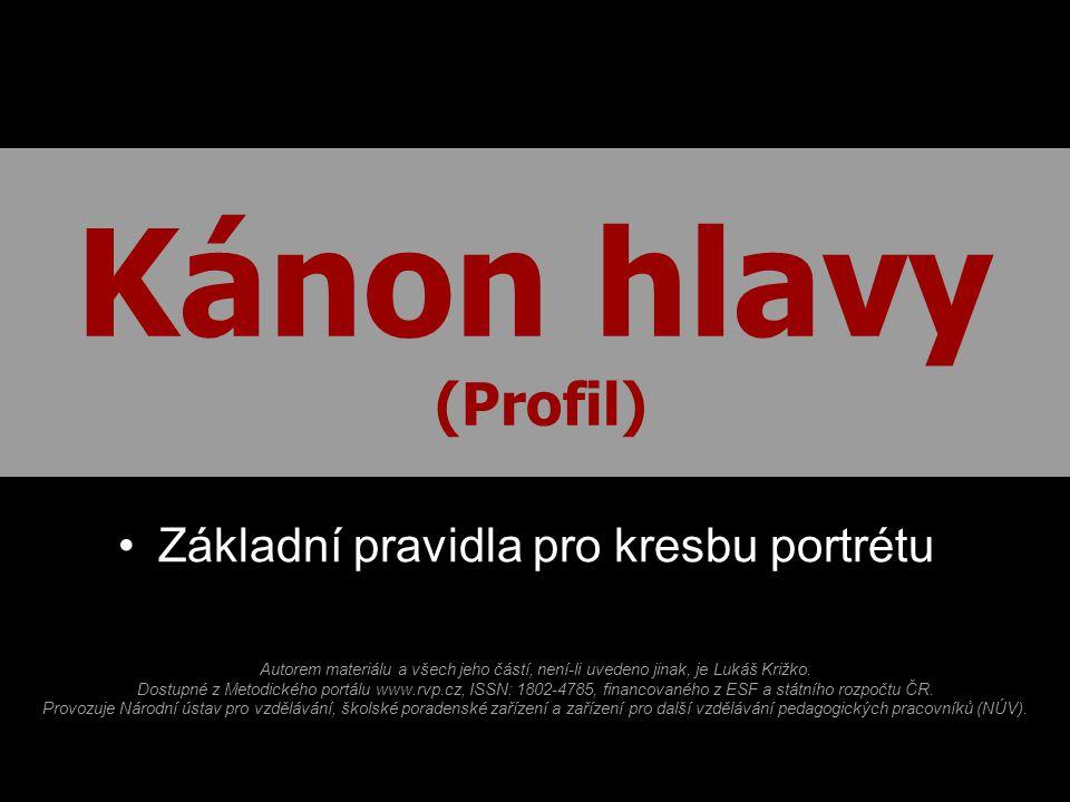 Kanon Hlavy Profil Zakladni Pravidla Pro Kresbu Portretu Ppt