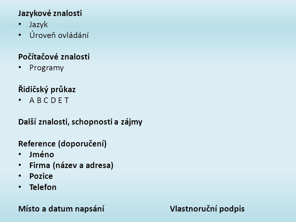 Zivotopis Stredni Odborna Skola Otrokovice Ppt Stahnout
