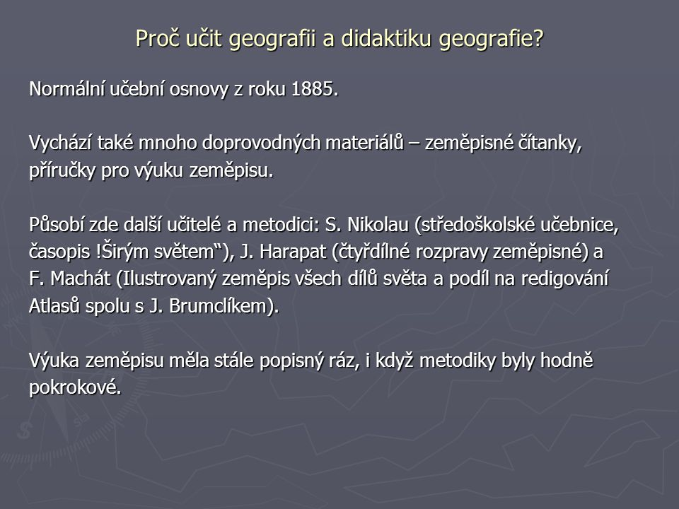 Proc Ucit Geografii A Didaktiku Geografie Ppt Stahnout
